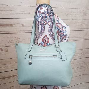 🔥COACH           Light Blue Leather Tote🔥
